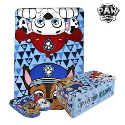 Caja Metálica con Manta y Zapatillas The Paw Patrol 70792 (3 pcs)