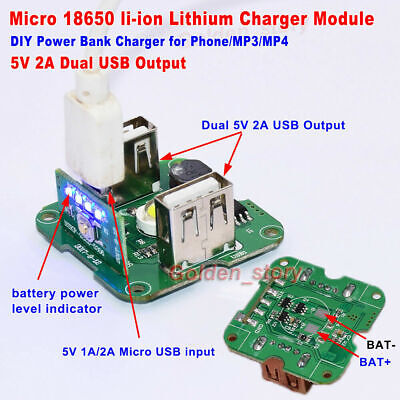 QC3.0 PD3.0 Type-c USB Lithium Li-ion 18650 Battery Fast Charging Charger Module