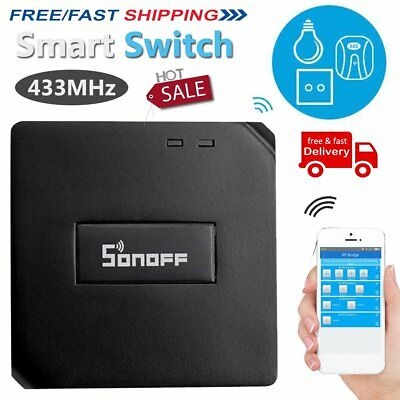 Sonoff RF Bridge 433MHz Remote Control 2.4GWiFi Switches for Smart Automation AP