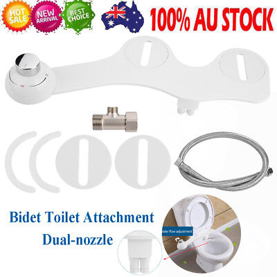 NEW Dual Nozzle Bidet Toilet Seat Attachment Spray Sprayer  Wash Cleaner Home