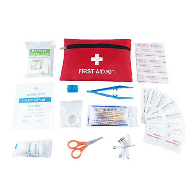 13 Piece Small First Aid Emergency Kit Cycling Running Car Travel Bag Handy
