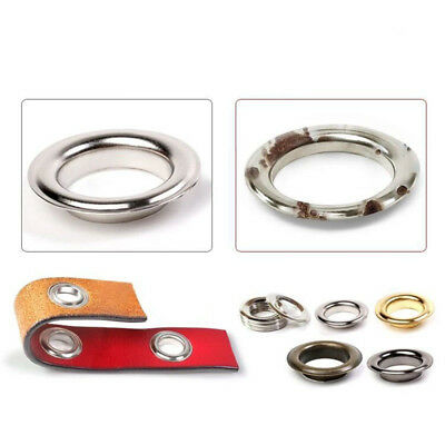 4/5/6/8mm Silver Solid Brass Eyelet W/ Grommets Washer For Leathercraft