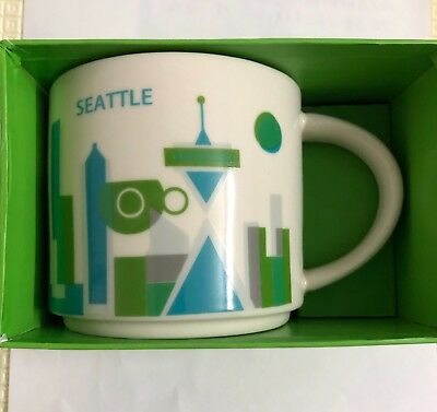 Starbucks Yah Seattle City You Are Here Collection Mug Coffee Cup 14oz
