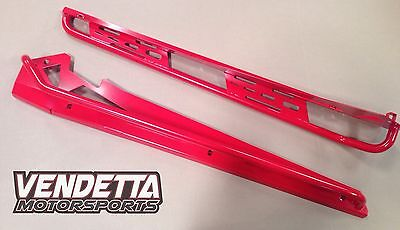2018 2017 2016 2015 2014 Polaris RZR XP 4 1000 & Turbo Rockers With Tube In Red