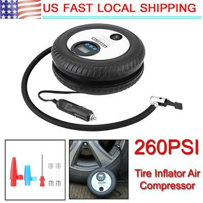 Portable Digital DC 12V Car Tyre Inflator Pump Air Compressor LCD Display