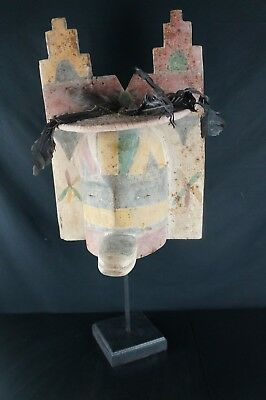 26# Antique Kachina MASK  - PUEBLO, Native American - LARGE - Early 20th Century