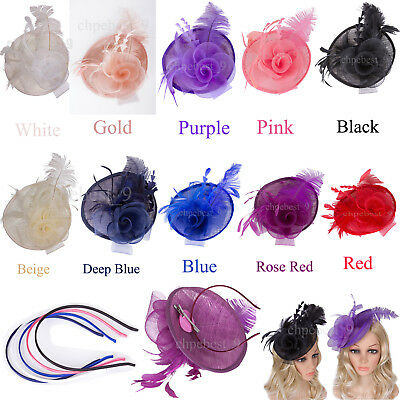 Party Large Head Clip Hats Fascinator Headbands Weddings Gowns Hair Accessories