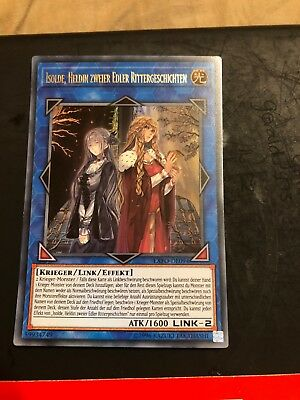 Yugioh GERMAN Isolde, Two Tales of The Noble Knights EXFO-EN094 Ultra Rare NM
