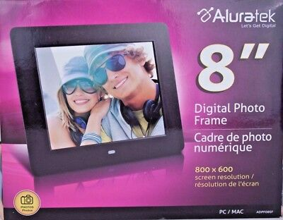 Aluratek Adpf08sf 8 Inch Digital Photo Frame Black 1050