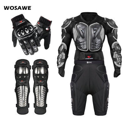 Motorcycle Motorbike protective armor jackets gloves motocross hip knee shorts