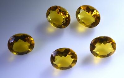 delicate Citrine Cubic Zirconia Faceted Oval 4x6 mm 1-PC Gemstones US