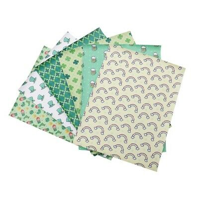 22*30cm St.Patrick's Clover Printed Synthetic Leather Fabric Sheet DIY Materials