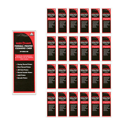 Pkg of 25 Thermal Printer Cleaning Cards