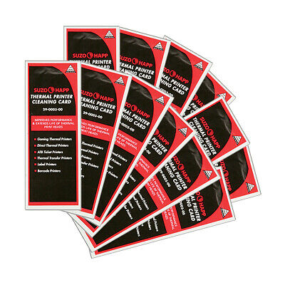 Pkg of 12 Thermal Printer Cleaning Cards