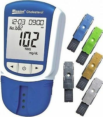 Mission 5 in 1 combo test cholesterol Meter &25 Test device Lipid Panel