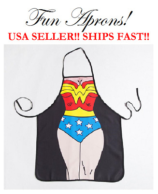 Wonder Woman Marvel DC Comic Super Hero Kitchen Cooking Dinner Apron BBQ Cookwea