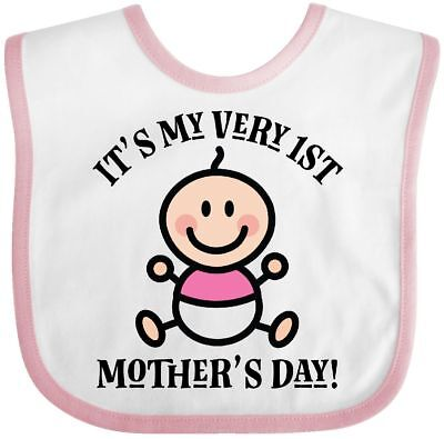 1803efd6a Inktastic Baby's 1st Mother's Day Girls Baby Bib First Childs Clothing  Infant