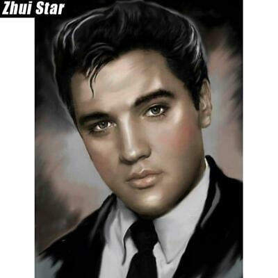 "5D Diamond Painting Full Drill square ""Elvis Presley"" 5 sizes"