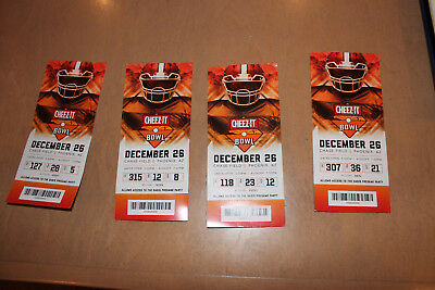 2018 Cheez It Bowl Ticket Stub good TCU Horned Frogs Cal Bears 12/26/18