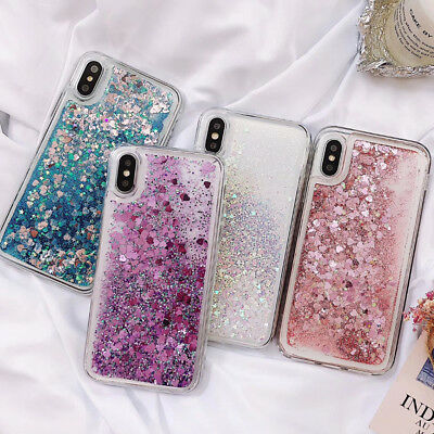 For Huawei Phone Case Sequins Quicksand Clear Hard Cover Bling Dynamic Glitter