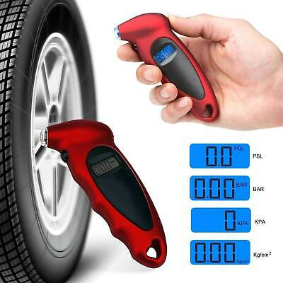 Air Pressure Gauge Tester Tool LCD Digital Tyre for Auto Motorcycle Car Van Bike