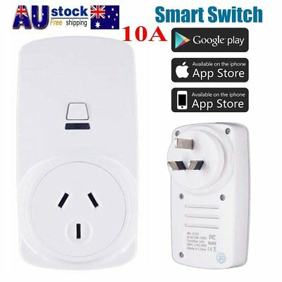 10A Wifi Smart Switch Plug Power Socket Outlet APP Remote Echo Alexa Google Home