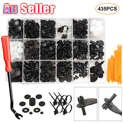 Retainer Bumper Rivets Screws Panel Push 435pcs Car Body Trim Clips Fastener Kit