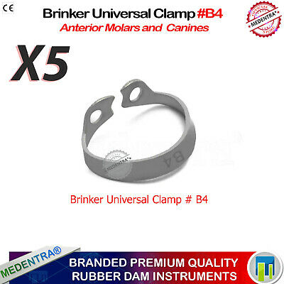 X1 Dental Hygenic Brinker Universal Tissue Retractors Rubber Dam Clamp B4 New