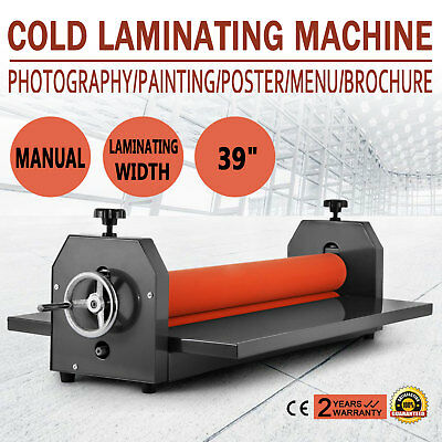 """All Metal Frame 39"""" 1000MM Manual Cold Roll Laminator Mount Factory Direct"""