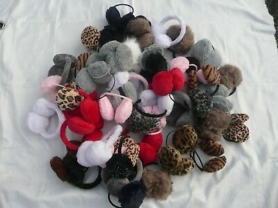 Wholesale Joblot Of 50 New Ear Muffs/winter Warmers.several Colours And Designs