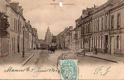 Cpa Mamers - Rue Nationale ( Sarthe - Le Mans )