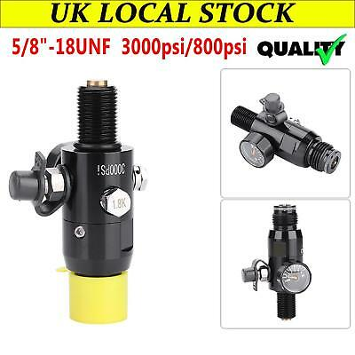"Paintball Valve Regulator 3000psi HPA Air Tank Output 800psi 5/8""-18UNF Thread ."