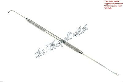 "New Crochet Hair Needle with Hook 7"" for Micro Braid Hair/Dread Maintenance UK"
