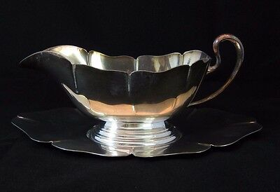 Vintage Colonial Silver Co. Silver Plate Gravy Boat w/ Underplate