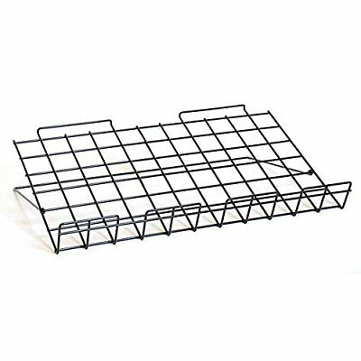 Black Metal Slatwall Shoe Shelf 11 W x 4 D x 2 H with Sign Holder - Pack of 10
