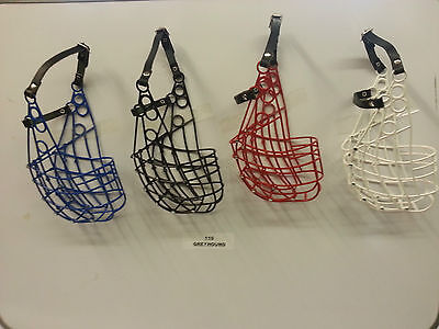 GREYHOUND AND LARGE DOG LIGHTWEIGHT MUZZLE EXTRA LONG STRAP 110 type New colours