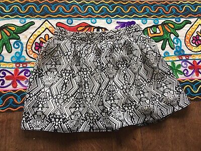 F&F Kids Black And White Patterned Short Skirt Age 18-24 Months