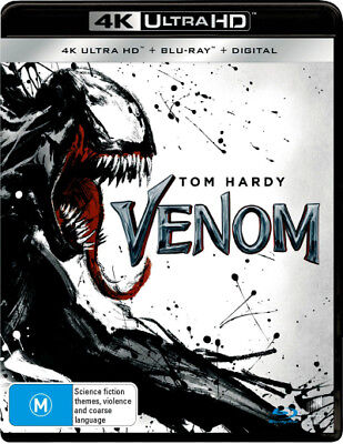 Venom (2018) (4K UHD/Blu-ray/UV)  - BLU-RAY - NEW Region B