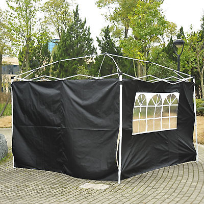 Outsunny Garden Gazebo Replacement Exchangeable Side Wall Panels Walls w/ Window