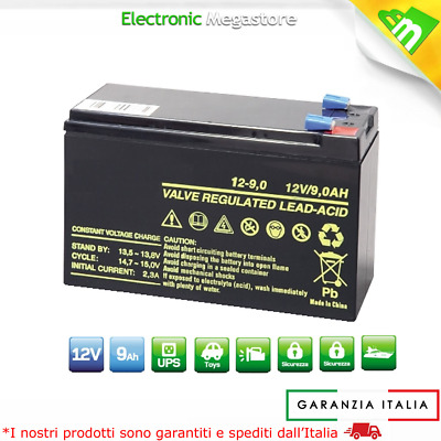 Batteria Professionale al Piombo AGM Ultracell 12V 9Ah 9.0A 9,5Ah Ricaricabile