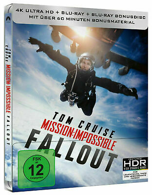 Mission: Impossible - Fallout - Limited Edition Steelbook [4K+Blu-ray] New!!