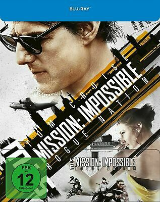 Mission Impossible - Rogue Nation - Limited Edition Steelbook [Blu-ray] New!!