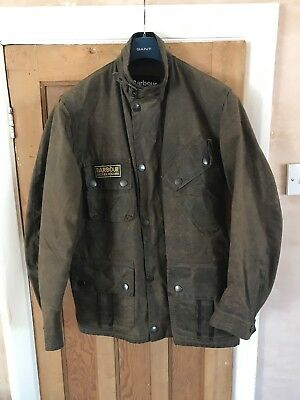 Rare Barbour Deus Ex Machina Horace Wax Jacket Brown size Medium