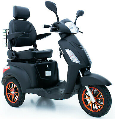 3 Wheeled ELECTRIC MOBILITY SCOOTER 60V100AH 500W Matt Black - FREE UK DELIVERY