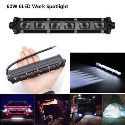"7"" inch 60W Spot Beam Slim LED Work Light Bar Single Row Car SUV Off road Lamps"