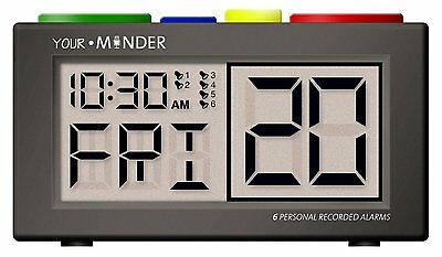 - OPEN BOX -  MedCenter Talking Personal Recording Alarm Clock  FREE SHIPPING