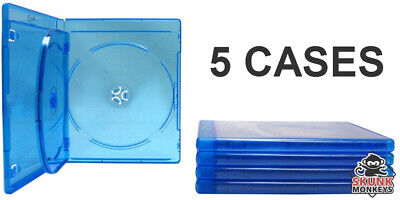 New (3) Empty Blu-Ray DVD Case 12mm 3-Disc Triple With Logo Replacement Cases