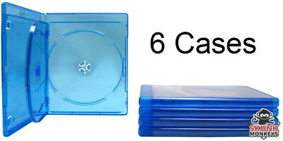 New (6) Empty Blu-Ray DVD Case 12mm 3-Disc Triple With Logo Replacement Cases
