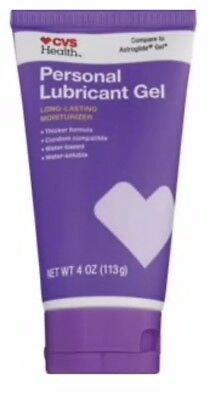 CVS Health Lubricating Jelly Personal Lubricant 4 oz 4oz Compare Astroglide Gel