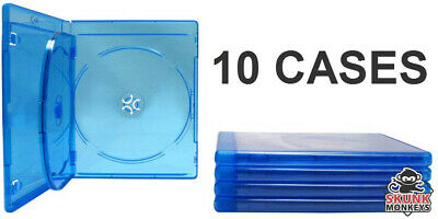 New (12) Empty Blu-Ray DVD Case 12mm 3-Disc Triple With Logo Replacement Cases